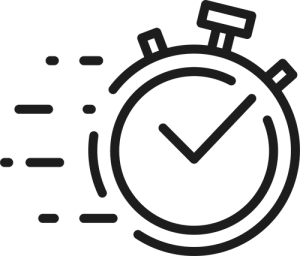 line illustration of a stopwatch
