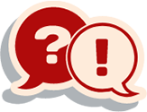 question and answer speech bubbles icon